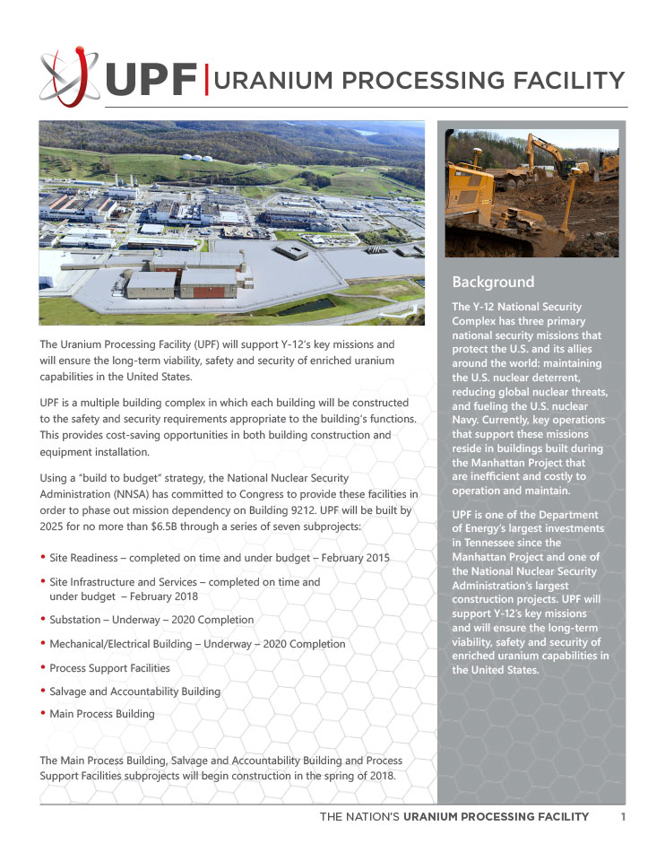 UPF Fact Sheet